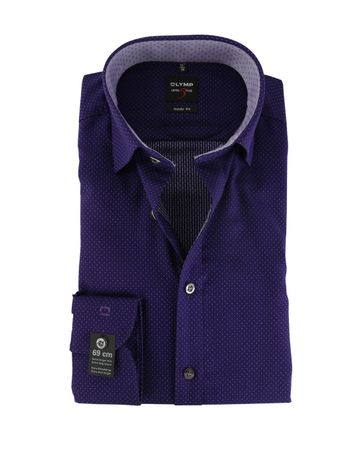 Olymp Body Fit Shirt Purple SL7