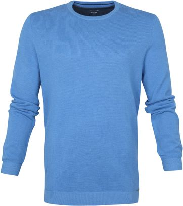 Olymp Casual Pullover Blauw