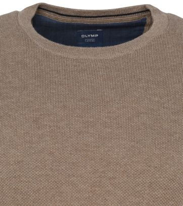 Olymp Casual Pullover Bruin