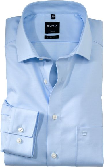OLYMP Cotton Shirt Luxor Blue