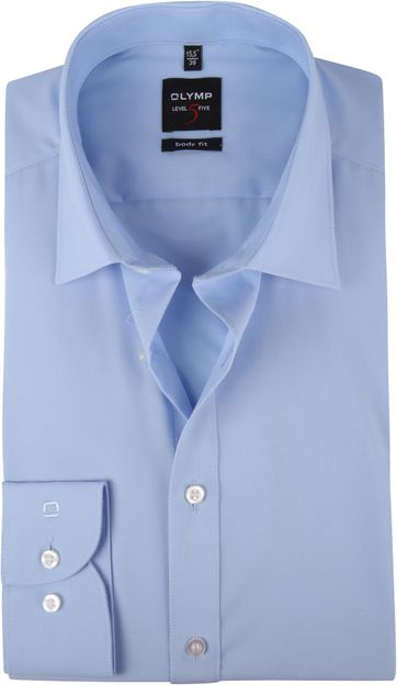 OLYMP Hemd Blauw Body Fit