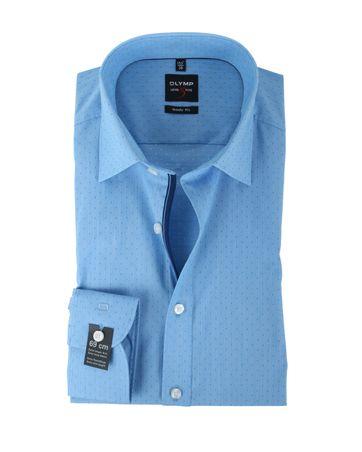Olymp Hemd Body Fit Blauw PP SL7