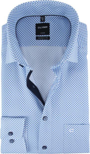 OLYMP Hemd Luxor Blau Muster