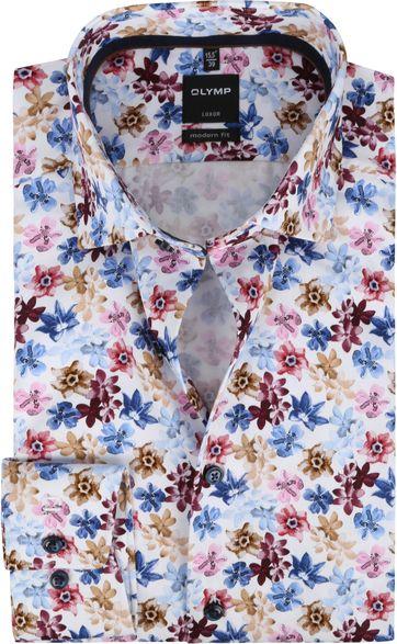 OLYMP Hemd Luxor MF Bloemen Roze