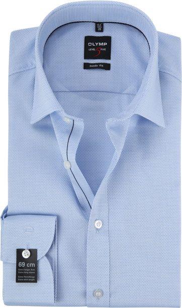 OLYMP Level 5 Blauw Overhemd BF SL7