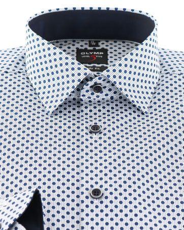 Detail OLYMP Level 5 Shirt Body Fit Blauwe Print