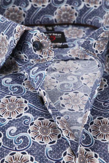 OLYMP Level 5 Shirt Extra Long Sleeve Blue Dessin