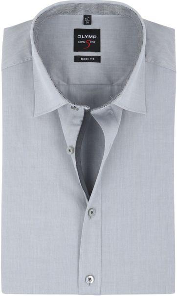 OLYMP Level 5 Short Sleeve Grey