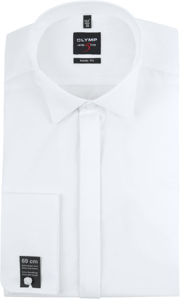 OLYMP Level 5 Tuxedo Shirt Extra Long Sleeve White
