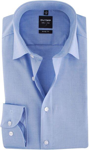 OLYMP Level Five Hemd Body-Fit Blauw