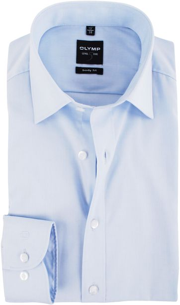 OLYMP Level Five Hemd Body-Fit Lichtblauw