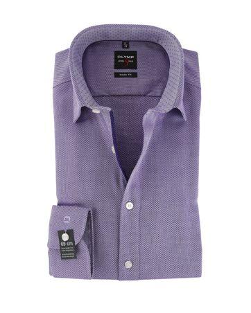 OLYMP Level Five Hemd Body Fit Violett Motiv SL7