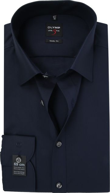 OLYMP Level Five Hemd SL7 Body-Fit Navy