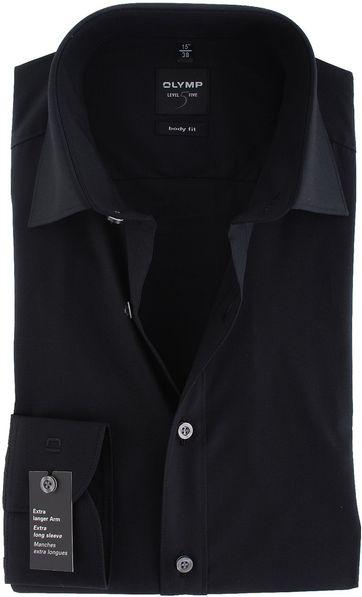 OLYMP Level Five Hemd SL7 Body-Fit Zwart
