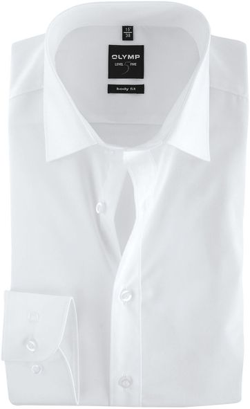 OLYMP Level Five Hemd Weiß Body Fit