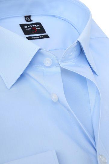 OLYMP Level Five Overhemd SL7 Body-Fit Lichtblauw