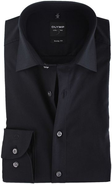 Olymp Level Five Shirt Body-Fit Black