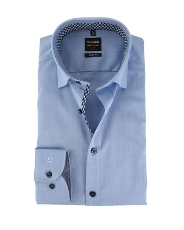 OLYMP Level Five Shirt Body Fit Blauw Under Button Down