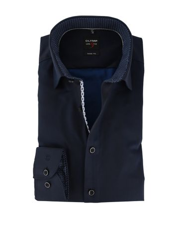 OLYMP Level Five Shirt Body Fit Donkerblauw