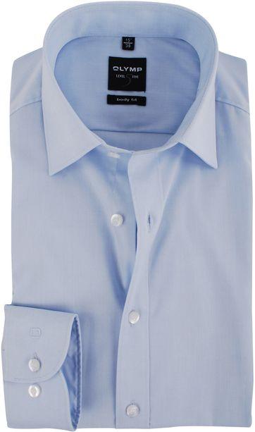 Olymp Level Five Shirt Body-fit Light Blue