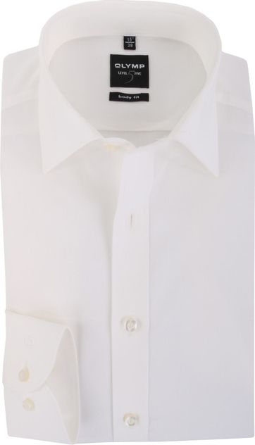 Olymp Level Five shirt Body Fit Off White