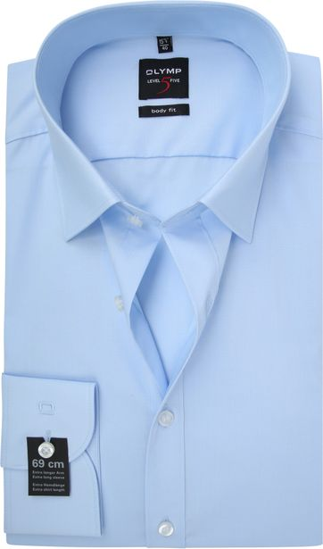 Olymp Level Five Shirt Extra Long Sleeve Body-Fit Light Blue