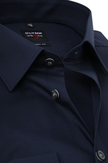 Olymp Level Five Shirt Extra Long Sleeve Body-Fit Navy