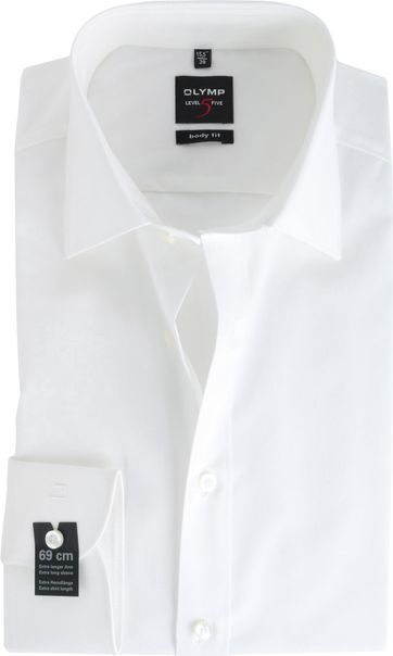 OLYMP Level Five Shirt Extra Long Sleeve Body-Fit Off-White