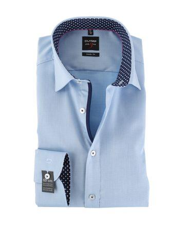 OLYMP Level Five SL7 Overhemd Licht Blauw