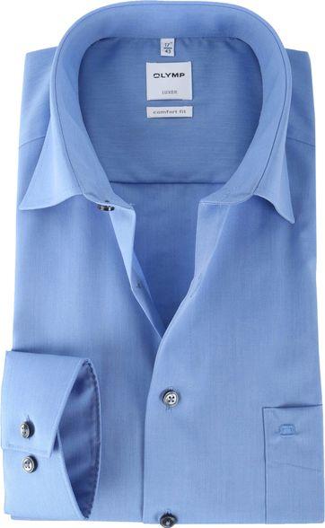 OLYMP Luxor Bügelfrei Hemd Comfort Fit Langarm Blau