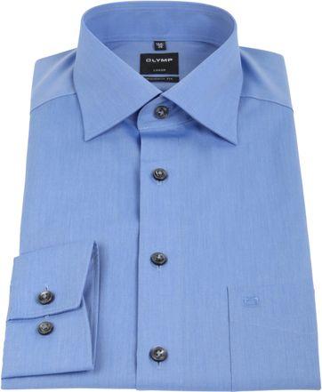 OLYMP Luxor Bügelfrei Hemd Modern Fit Blau