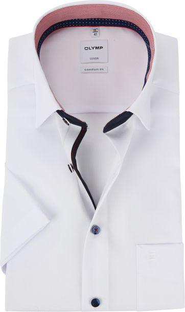 OLYMP Luxor CF SS White Shirt