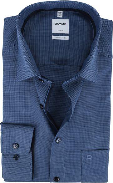 OLYMP Luxor CF Strijkvrij Overhemd Marineblauw