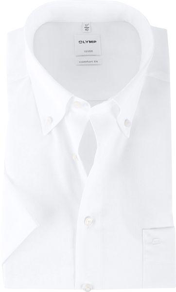 OLYMP Luxor Hemd Comfort Fit Kurzarm Weiß