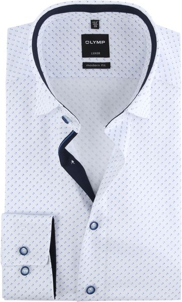 OLYMP Luxor Hemd Design Weiß