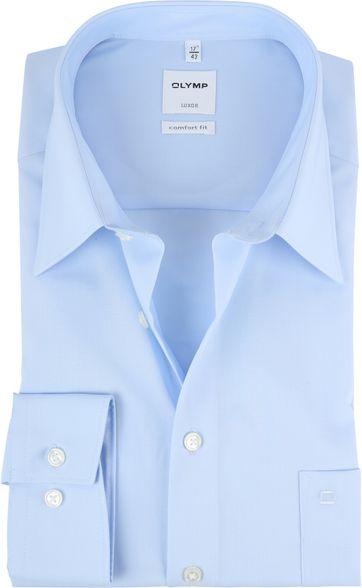 OLYMP Luxor Hemd Eisblau Comfort Fit