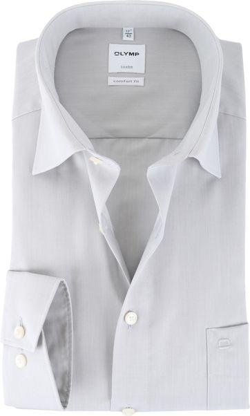 OLYMP Luxor Hemd Grau Comfort Fit
