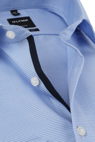 OLYMP Luxor Hemd MF Blau Weiß SL7