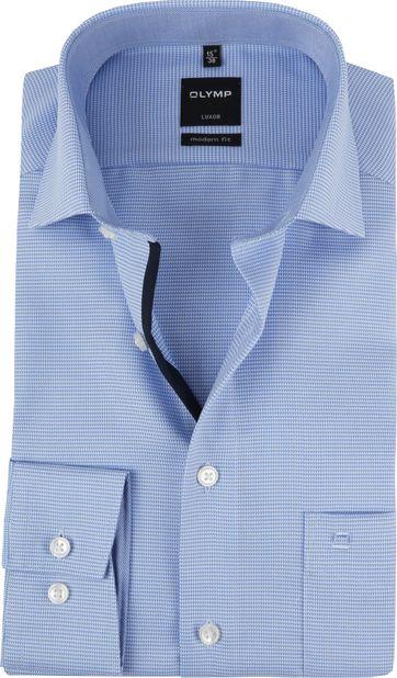 OLYMP Luxor Hemd MF Blauw Wit SL7