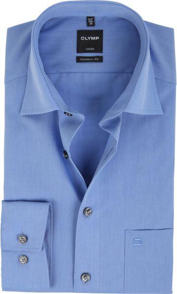 OLYMP Luxor Hemd Modern Fit Blauw