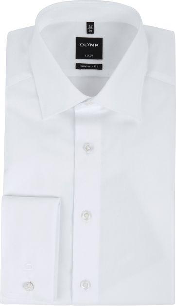 OLYMP Luxor Hemd Modern Fit Doppelmanschette Weiß