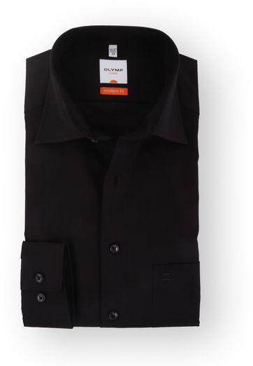 OLYMP Luxor Hemd Schwarz Modern Fit