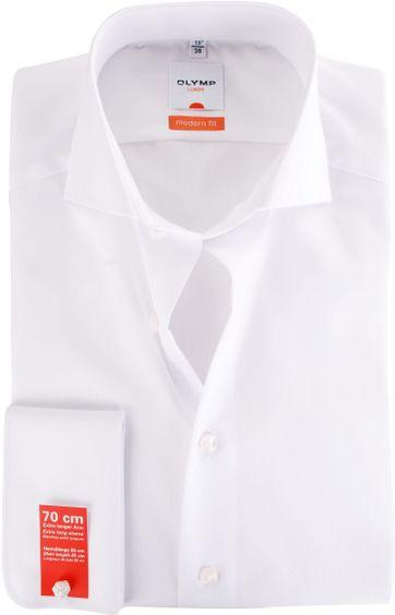 OLYMP Luxor Hemd SL7 Modern Fit Doppelmanschette Weiß