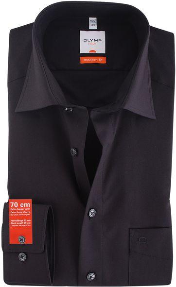 OLYMP Luxor Hemd SL7 Modern Fit Schwarz