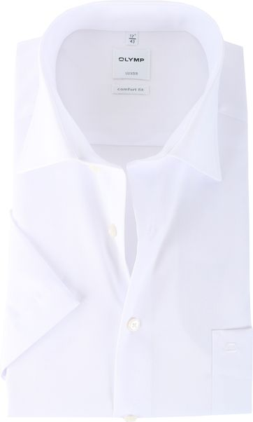 OLYMP Luxor Kurzarm Hemd Weiß Comfort Fit Weiß