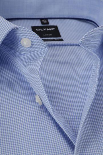 OLYMP Luxor MF Blauw Ruit Overhemd