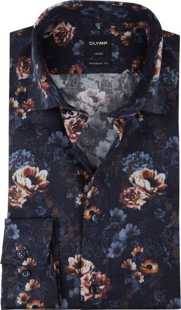 OLYMP Luxor MF Bloemen Overhemd