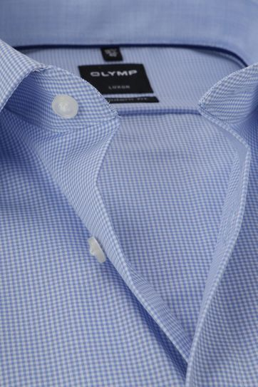 OLYMP Luxor MF Blue Checks Shirt