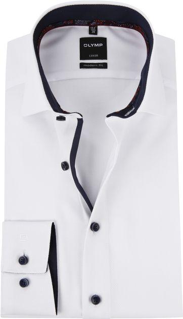 OLYMP Luxor MF Hemd Weiß Dessin