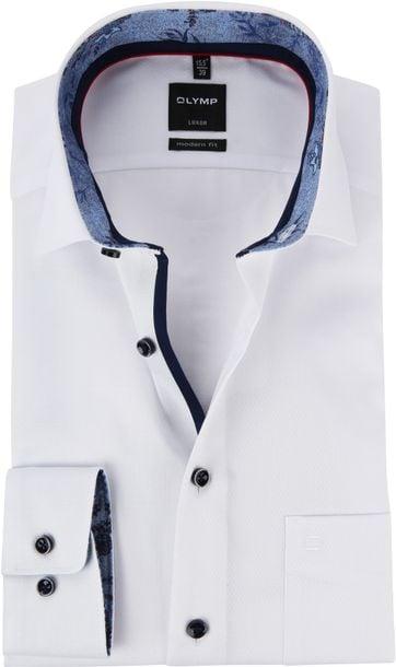 OLYMP Luxor MF Overhemd Dessin Wit